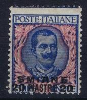 Italy  Levant Smirne Sa Nr 7 Mi 26 V MH/* Flz/ Charniere - 11. Foreign Offices
