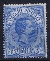 Italy  Pacchi  Sa 2 Mi 2   Not Used (*) SG  1884 - 1878-00 Humbert I.