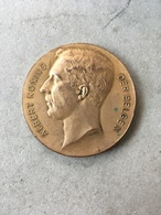 Medaille - Algemeene Landbouwprijskamp 1924 - Albert Koning Der Belgen - Beates - Belgium