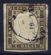 Italy  Sardegna Sa 14  Mi Nr 11 D  Darkbraun  Obl./Gestempelt/used  Signed/ Signé/signiert/ Approvato Bühler - Sardinia