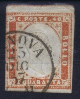 Italy  Sardegna Sa 16  Mi Nr 13d  Seal Red   Obl./Gestempelt/used - Sardinia