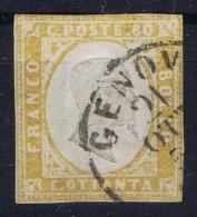 Italy  Sardegna Sa 17  Mi Nr 14  Obl./Gestempelt/used Signed/ Signé/signiert/ Approvato Diena - Sardaigne