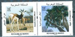 MAROC MOROCCO MAROKKO FAUNE FLORE GAZELLE MAHA ARBRE LE DRAGONNIER 2017 - Morocco (1956-...)
