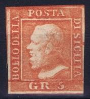 Italy  Sicilia Sa 11  Mi Nr 4b MH/* Flz/ Charniere  Scarled Red - Sicilië