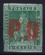 Italy  Toscana  Sa 6 Mi Nr  6y Obl./Gestempelt/used  Grey Paper - Toskana