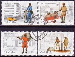 ZAMBIA 1985 SG #441-44 Compl.set Used Posts And Telecommunications Corporation - Zambia (1965-...)