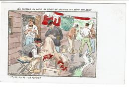 Les Chasses Au Camp / Kamp Zeist - 1. Les Puces / De Vlooien - Illustr. Maurice Sieron 1916 - 2 Scans - Oorlog 1914-18