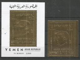 YEMEN - MNH - Famous People - Kennedy - Gold - Kennedy (John F.)