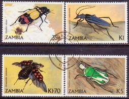 ZAMBIA 1986 SG #449-52 Compl.set Used Beetles - Zambia (1965-...)