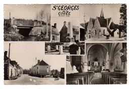CPSM Photo Multivues Saint Georges De La Couée 72 Sarthe Eglise Monument Aux Morts éditeur CIM  N°3 - France