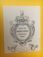 8303 - Château Ferrière 1943 Margaux - Bordeaux