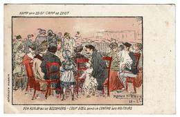 Kamp Van Zeist - Camp De Zeist - Coup D'oeil Dans La Cantine Des Visiteurs - Illustr. Maurice Sieron 1916 - 2 Scans - Oorlog 1914-18
