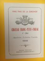 8305 - Château Franc-Petit-Figeac 1948 - Bordeaux