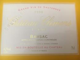 8306 - Château Climens 1998 Barsac Spécimen - Bordeaux