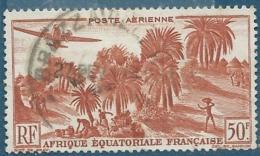AEF   Aérien    Yvert N °  50 Oblitéré     -  Pa16610 - A.E.F. (1936-1958)