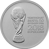 RUSSIA RUSSLAND RUSSIE 25 ROUBLE RUBLE FIFA SOCCER WORLD CUP 2017 / 2018 UNC - Russia
