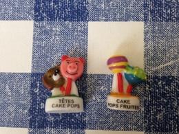 2 Feves Serie Pops : Cake Pops Fruites, Têtes Cake Pops - Charms