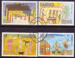ZAMBIA 1986 SG #468-71 Compl.set Used Christmas - Zambia (1965-...)