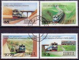 ZAMBIA 1986 SG #472-75 Compl.set Used Tanzania-Zambia Railway - Zambia (1965-...)