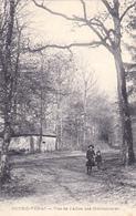 Cpa,couhé Vérac,gironde,vue Des Allée Des Héronnières En 1917,1er Guerre Mondiale,famille En Promenade,rare,gironde - Libourne