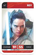 CARTE STAR WARS LECLERC 2018 - N° 47 - REY - Star Wars