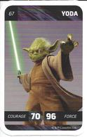 CARTE STAR WARS LECLERC 2018 - N° 67 - YODA - Star Wars