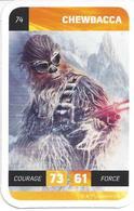 CARTE STAR WARS LECLERC 2018 - N° 74 - CHEWBACCA - Star Wars