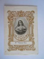 Image Pieuse Holy Card Saint Louis Roi Prière Form. 6.4 X 9.5 Cm - Devotion Images