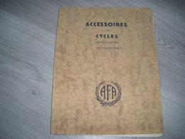 Catalogue Pour Cycles Motos Autos AFA Timbres Acier (sonnette). Cale Pieds LAPIZE CHRISTOPHE. Protége Plaques Ect... - Unclassified