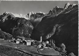 Soglio (Bergell) Mit Sciora-Gruppe, Piz Cengalo Und Piz Badile - Photo: Otto Furter - GR Grisons
