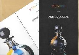 Superbe Livret Perfume Booklet VENINI Pour ANNICK GOUTAL * 4 Pages * Beau Papier * 14,7 X 21 Cm *** 1 EX - Perfume Cards