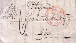 HERAULT - BEZIERS - CACHET T12 EN ROUGE - DU 9 SEPTEMBRE 1834 - TAXE 6 MANUSCRITE - LONG TEXTE ET SIGNATURE VINCENTE PIC - Marcophilie (Lettres)