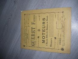 Catalogue  GUERET Frères Moteurs à Gaz De Ville Et Essence De Pétrole Convenant à L'industrie 1908 - Unclassified