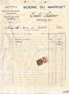 SCIERIE  DU MARTINET -EMILE LATOUR- PIGNANS VAR 1930 - France