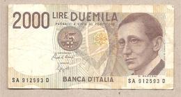 Italia - Banconota Circolata Da £ 2000 Marconi P-115 - 1990 - [ 2] 1946-… : Républic