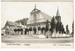 Tongre-Notre-Dame - L'Eglise - Edit. E. Potvin, Chièvres - 2 Scans - Chièvres