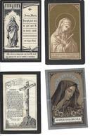 LOT F - 20 Doodsprentjes Gestorven Voor 1900, Vooral Izegem, Ook Koolskamp, Waregem, Ardooie, Moorsele, Sint Andries ... - Devotion Images