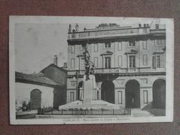 GARLASCO -1928  -MONUMENTO AI CADUTI E MUNICIPIO.   --FP  --BELLISSIMA  - - Altre Città