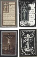LOT G - 20 Doodsprentjes Gestorven Voor 1900, Vooral Izegem, Ook Ramskapelle, Kachtem, Koolskamp, Moorslede, Brugge ... - Devotion Images