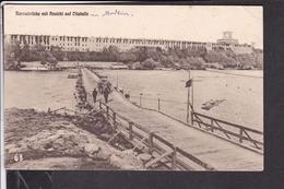 Modlin Narewbrücke Mit Ansicht Auf Citadelle Feldpost 1916 - Pologne