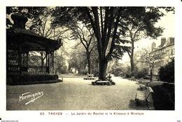 10. Aube . Troyes :  Le Jardin Du Rocher  Et Le Kiosque A Musique . - Troyes