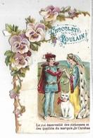 CHROMO - CHOCOLAT POULAIN - Personnages Et Chat - Poulain