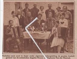 ASPER...1928.. GAVERE .GOUDEN BRUILOFT VAN ANGELUS ROUSSE EN STEPHANIE VAN DER MEERSCH - Unclassified