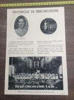 1936 DOCUMENT BEBE ORCHESTRE A LILLE DEPOTTE HOUSIEAUX RENE REUBREZ - Collections