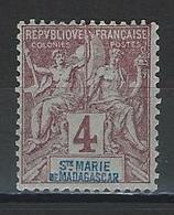 Ste. Marie De Madagascar Yv. 3, Mi 3 * - Madagascar – Sainte-Marie (1894-1898)