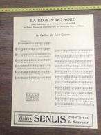 1936 CHANT LE CARILLON DE SAINT QUENTIN PUBLICITE SENSLIS SOISSON CHANSON GEANT ROLAND HAZEBROUCK - Collections