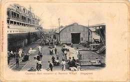 SINGAPORE - German Mail Steamer At Borneo Wharf - Publ. Lambert. - Singapore
