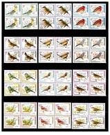 Defentive Birds Complete Set In Block Of 4 , 48 Stamps - Iran - Climbing Birds