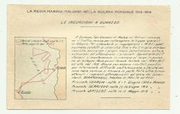 REGIA MARINA - LE INCURSIONI A DURAZZO  - NV FP - Guerra 1914-18