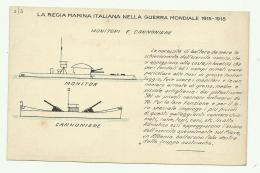 REGIA MARINA - MONITORI E CANNONIERE    - NV FP - Guerra 1914-18